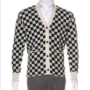 Amiri Checkered Cashmere Cardigan